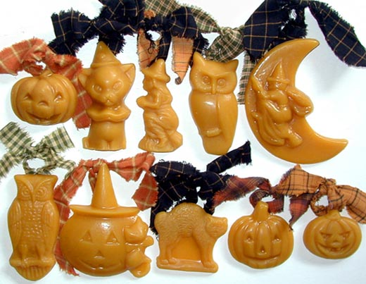 Bittersweet House Beeswax Halloween Ornaments