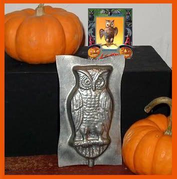 halloween owl Chocolate Mold