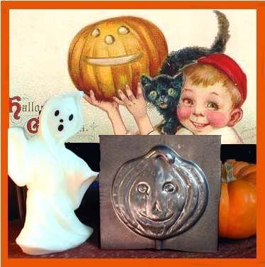 Antique Halloween Pumpkin Chocolate Mold