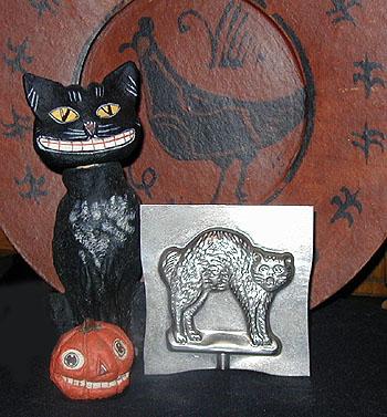 Cat Antique Chocolate Mold