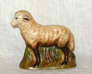 Bittersweet House  Folk Art German Lamb, 3 1/4