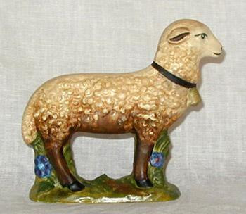 Bittersweet House Folk Art Sheep-Antiqued,handpainted finish,  BORDER=