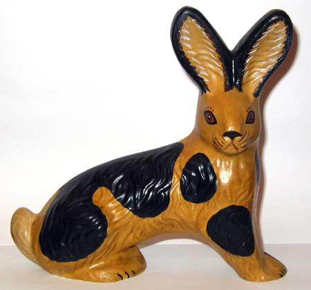 Yellow ware rabbit
