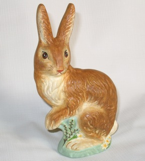 Chalkware Bunny Rabbit from antique chocolate mold