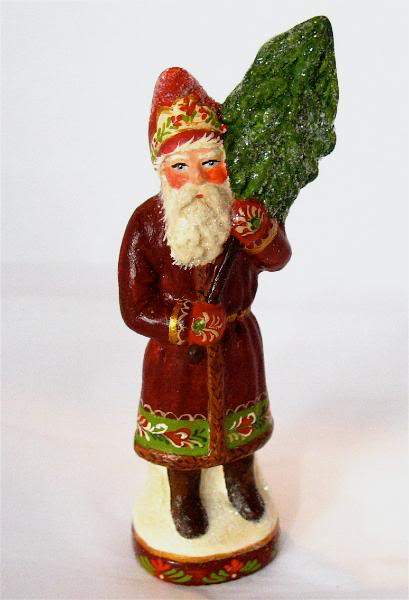 Bittersweet House Folk Art Santa from an antique chocolate mold